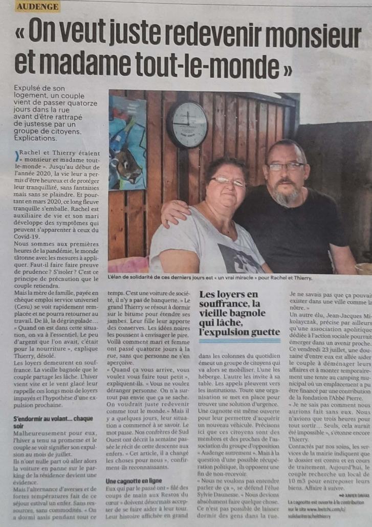 Expulsion couple Audenge
